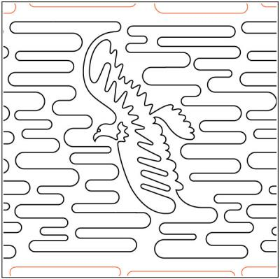 Bald Eagle quilting pantograph pattern by Laura Estes