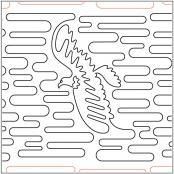 CLOSEOUT...Bald Eagle quilting pantograph pattern by Laura Estes
