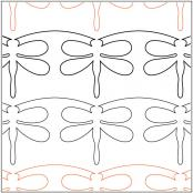 Meandering-Dragonfly-Border-quilting-pantograph-sewing-pattern-Laura-Estes