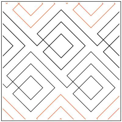 INVENTORY REDUCTION...Squared pantograph pattern by Leisha Farnsworth