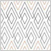 Diamond Squared pantograph pattern by Leisha Farnsworth