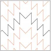 Native Chevron pantograph pattern by Leisha Farnsworth