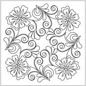 Flowering-Plum-Block-2-quilting-pantograph-pattern-Leisha-Farnsworth