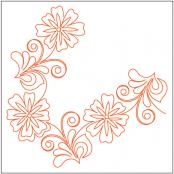 Flowering-Plum-Corner-quilting-pantograph-pattern-Leisha-Farnsworth-1