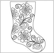 Flowering-Plum-Stocking-quilting-pantograph-pattern-Leisha-Farnsworth