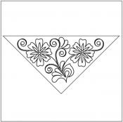 Flowering-Plum-Triangle-block-1-quilting-pantograph-pattern-Leisha-Farnsworth