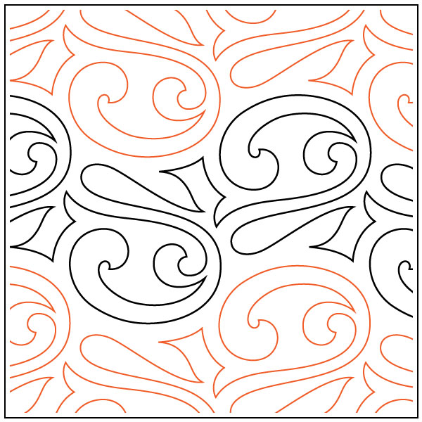 Charleston-quilting-pantograph-sewing-pattern-Lorien-Quilting