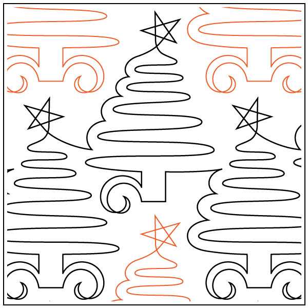 Loriens-Christmas-Trees-quilting-pantograph-sewing-pattern-Lorien-Quilting