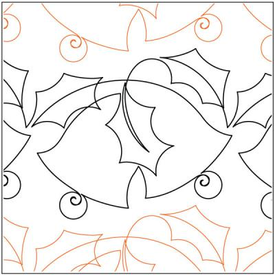 Holiday Bells quilting pantograph pattern by Lorien Quilting
