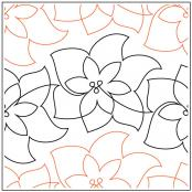 Christmas-Poinsettia-quilting-pantograph-sewing-pattern-Lorien-Quilting