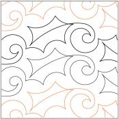 Simply Holly quilting pantograph pattern by Lorien Quilting 1
