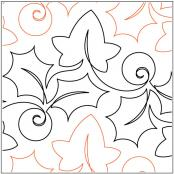 The Holly and The Ivy quilting pantograph pattern by Lorien Quilting