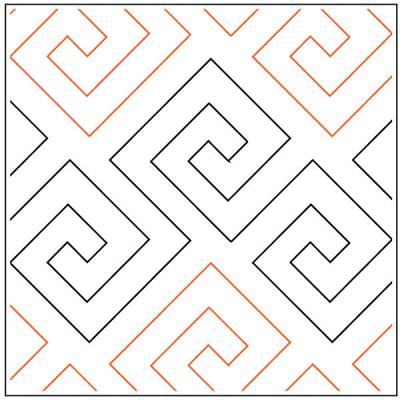 INVENTORY REDUCTION...Athena quilting pantograph sewing pattern by Lorien Quilting