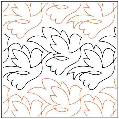 INVENTORY REDUCTION...Beautiful Birds quilting pantograph sewing pattern by Lorien Quilting