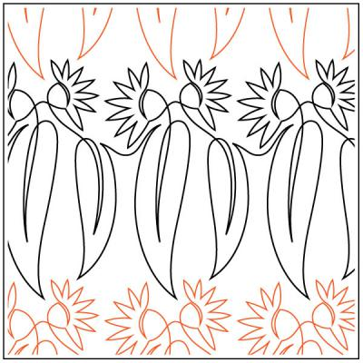 Flowering Gum quilting pantograph sewing pattern by Lorien Quilting
