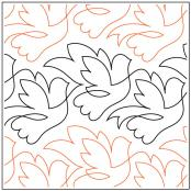 Beautiful Birds quilting pantograph sewing pattern by Lorien Quilting