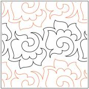 Fab Flowers quilting pantograph sewing pattern by Lorien Quilting