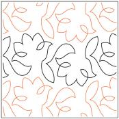 Simple Tulip quilting pantograph sewing pattern by Lorien Quilting