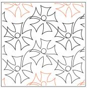 Corolla quilting pantograph sewing pattern by Lorien Quilting
