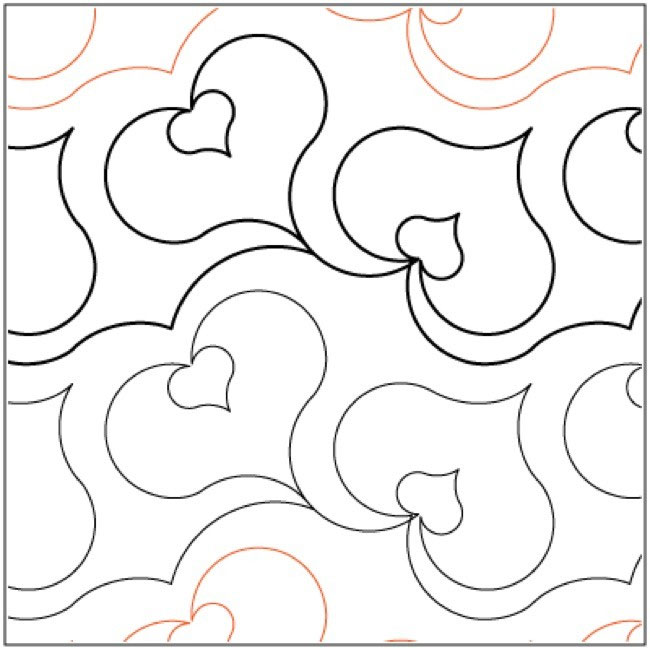 Amour quilting pantograph pattern by Lorien Quilting : lorien quilting - Adamdwight.com