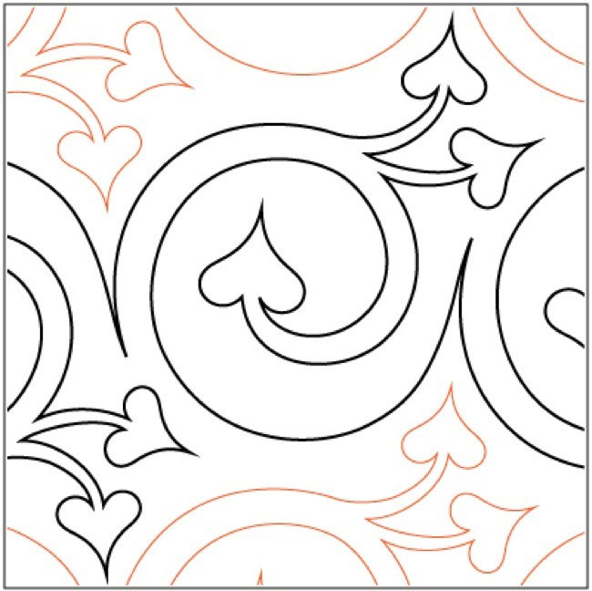 Cherish quilting pantograph pattern by Lorien Quilting