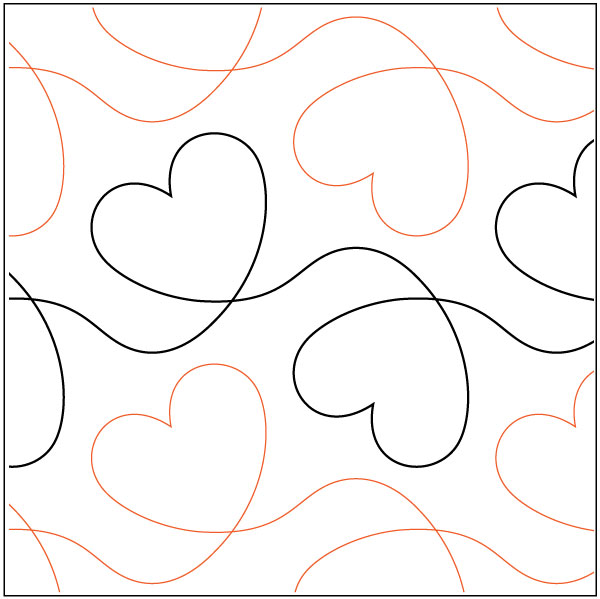 Free Heart Quilting Stencils : Dear Heart quilting pantograph pattern by Lorien Quilting