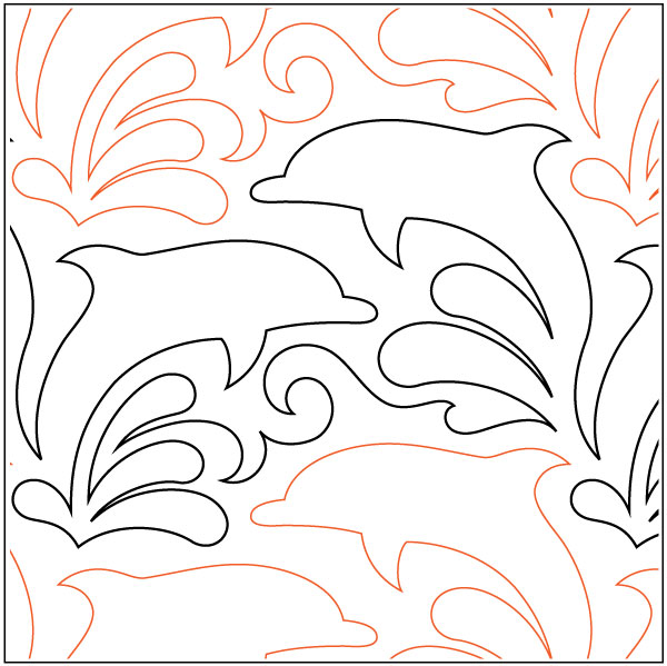 Dolphin-Dance-quilting-pantograph-pattern-Lorien-Quilting