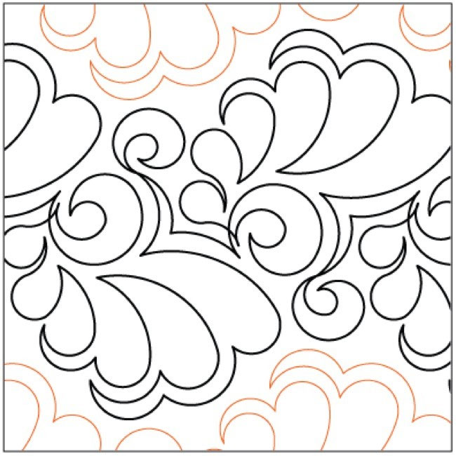 Fantasia quilting pantograph pattern by Lorien Quilting : lorien quilting - Adamdwight.com