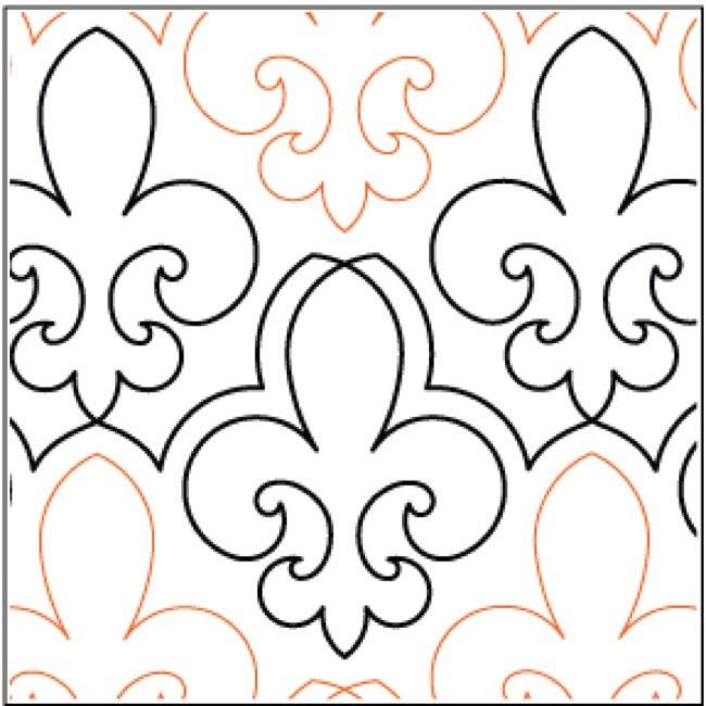 Fleur quilting pantograph pattern by Lorien Quilting : lorien quilting - Adamdwight.com