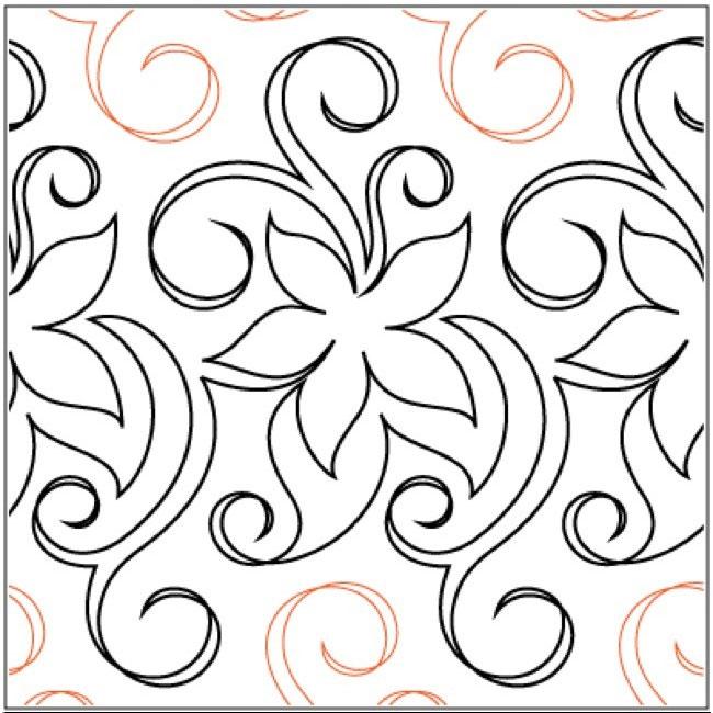 Florist-quilting-pantograph-pattern-Lorien-Quilting