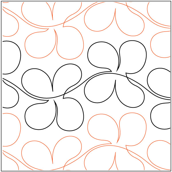 Freehand Flowers quilting pantograph pattern by Lorien Quilting : lorien quilting - Adamdwight.com