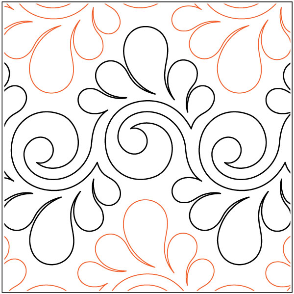 Fresco-Feathers-quilting-pantograph-pattern-Lorien-Quilting
