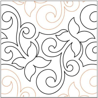 Espalier quilting pantograph pattern by Lorien Quilting