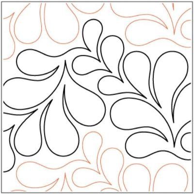 Feather Puff quilting pantograph pattern by Lorien Quilting