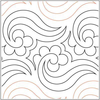 Fluent-quilting-pantograph-pattern-Lorien-Quilting