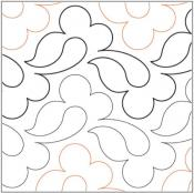 Easy Peasy quilting pantograph pattern by Lorien Quilting