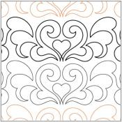 Feather-Hearts-quilting-pantograph-pattern-Lorien-Quilting