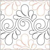 Fresco Feathers quilting pantograph pattern by Lorien Quilting