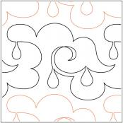 Lorien's Rainy Day quilting pantograph pattern by Lorien Quilting