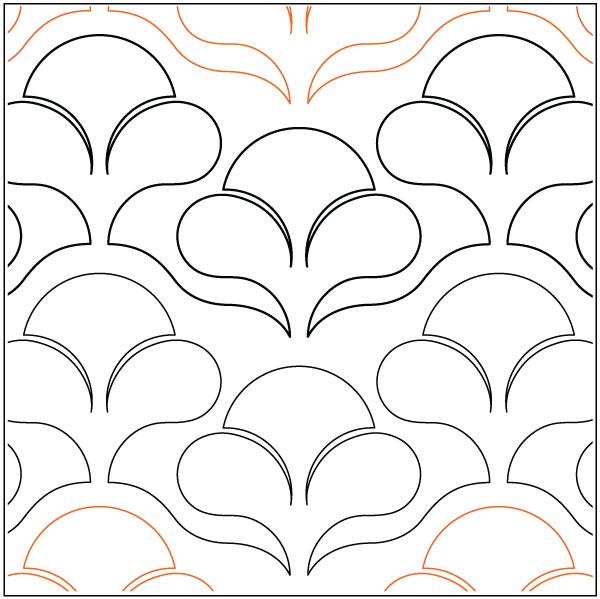 Nouveau Flowers quilting pantograph pattern by Lorien Quilting : lorien quilting - Adamdwight.com