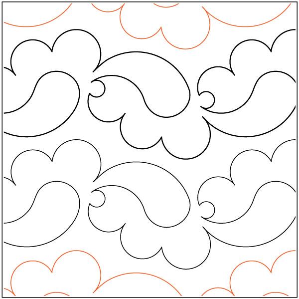 Plain-Paisley-quilting-pantograph-pattern-Lorien-Quilting