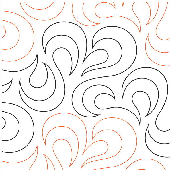 Slick Quilting Pantograph Pattern By Lorien Quilting