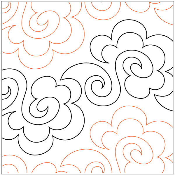 Tuffy quilting pantograph pattern by Lorien Quilting