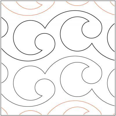 Paihia-quilting-pantograph-pattern-Lorien-Quilting