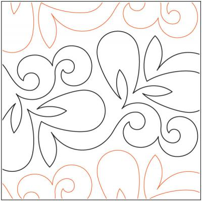 Vivacious quilting pantograph pattern by Lorien Quilting
