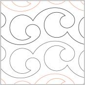 Paihia quilting pantograph pattern by Lorien Quilting