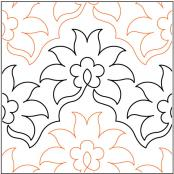 Pineapple-Flower-quilting-pantograph-pattern-Lorien-Quilting