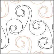 INVENTORY REDUCTION...Streamer quilting pantograph pattern by Lorien Quilting