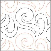 Wisp quilting pantograph pattern by Lorien Quilting