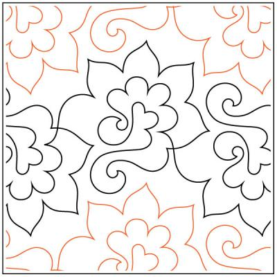 INVENTORY REDUCTION...Amino quilting pantograph sewing pattern by Lorien Quilting